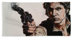 First Shot - Han Solo Beach Towel