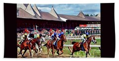 First Turn Saratoga Beach Towel