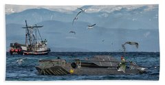 Beach Towel featuring the photograph Fish Are Flying by Randy Hall