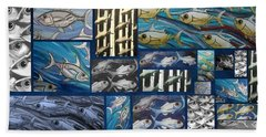 Fish Collage Beach Towel