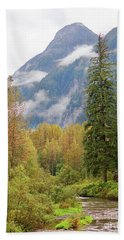 Beach Towel featuring the photograph Fish Creek Autumn by Stanza Widen