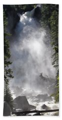 Beach Towel featuring the photograph Fish Creek Falls by Don Schwartz