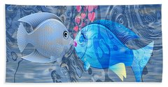 Fish In Love Beach Towel