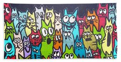 Fish Moon Cats Beach Sheet