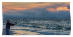 Beach Sheet featuring the photograph Fish On In Alabama  by John McGraw