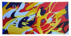 Fish Shoal Abstract 2 Beach Towel