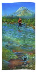 Fish Story Beach Towel by Jeanette French
