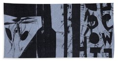 Fisher Covers Reverse White On Black Beach Towel