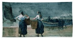 Fisher Girls By The Sea Beach Towel