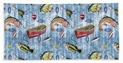 Beach Towel featuring the digital art Fisherman-a by Jean Plout