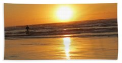 Fisherman At Sunrise Beach Towel