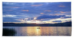 Fisherman Heading Home Beach Towel