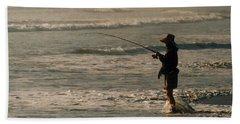 Beach Sheet featuring the photograph Fisherman by Steve Karol
