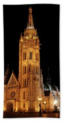 Beach Towel featuring the digital art  Fishermans Bastion - Budapest by Pat Speirs
