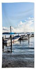 Fisherman's Marina Beach Sheet by Lawrence Burry