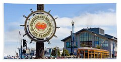 Fishermans Wharf - San Francisco Beach Towel