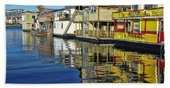 Fisherman's Wharf Beach Towel by Marilyn Wilson