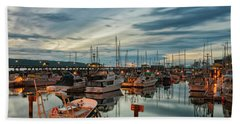 Beach Towel featuring the photograph Fishermans Wharf by Randy Hall
