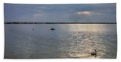 Beach Towel featuring the photograph Fishermens Morning by James BO Insogna