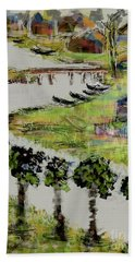 Fishermen's Village Beach Towel