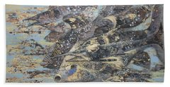 Fishes. Monotype Beach Towel
