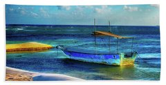 Fishing Boat At Rest Beach Towel