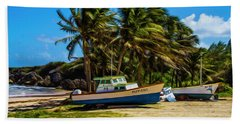 Fishing Boat Beach Sheet