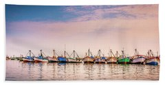 Fishing Boats Beach Sheet