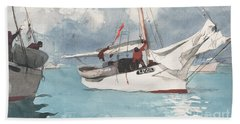 Fishing Boats, Key West, 1903 Beach Towel