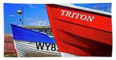 Fishing Boats Saltburn-by-the-sea Beach Towel