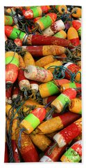 Fishing Buoys Beach Towel