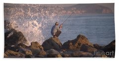Beach Sheet featuring the photograph Fishing by Chris Tarpening