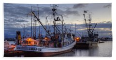 Fishing Fleet Beach Towel by Randy Hall