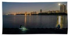 Fishing In The Moonlight Beach Towel