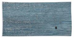 Beach Sheet featuring the photograph Fishing In The Ocean Off Palos Verdes by Joe Bonita