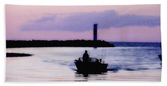 Fishing Lake Ontario  Lake Ontario  Beach Sheet by Iconic Images Art Gallery David Pucciarelli