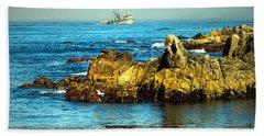 Fishing Monterey Bay Ca Beach Towel