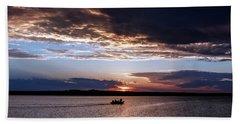 Fishing On The Lake Beach Sheet