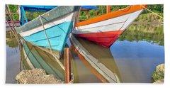 Fishing Pirogues  Beach Towel