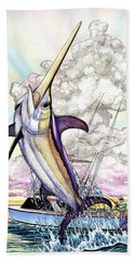 Fishing Swordfish Beach Towel
