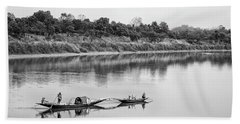 Fishing The Lower Ganges Beach Towel