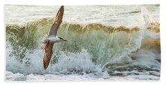 Fishing The Surf Beach Towel