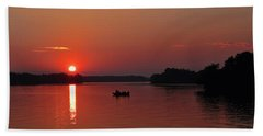 Fishing Until Sunset Beach Towel
