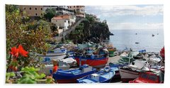 Fishing Village On The Island Of Madeira Beach Towel