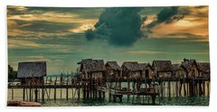 Fishing Village Beach Towel
