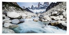 Fitz Roy On A Cloudy Day  Beach Towel