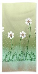 Five Days Of Daisies Beach Sheet by Rosalie Scanlon
