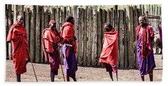 Five Maasai Warriors Beach Sheet