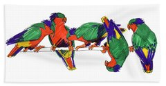 Five Rimatara Lorikeets Beach Towel