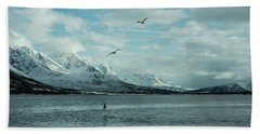 Fjord Landscape In The North Of Norway  Beach Towel by Tamara Sushko